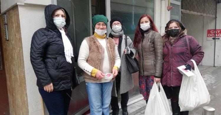 CHP Kadın Kolları, kandilde esnafı ziyaret etti!