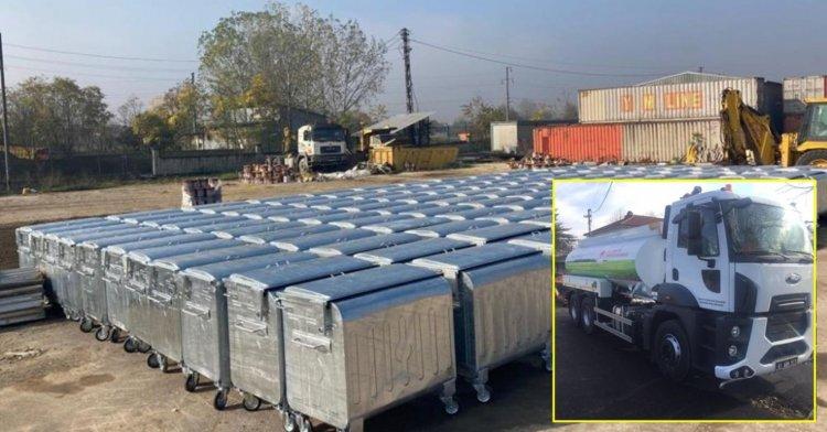 Bakanlıktan Düzce'ye konteyner ve araç desteği