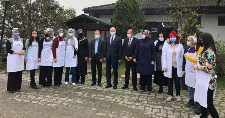 ÖZLÜ BELMEK'İ ZİYARET ETTİ!