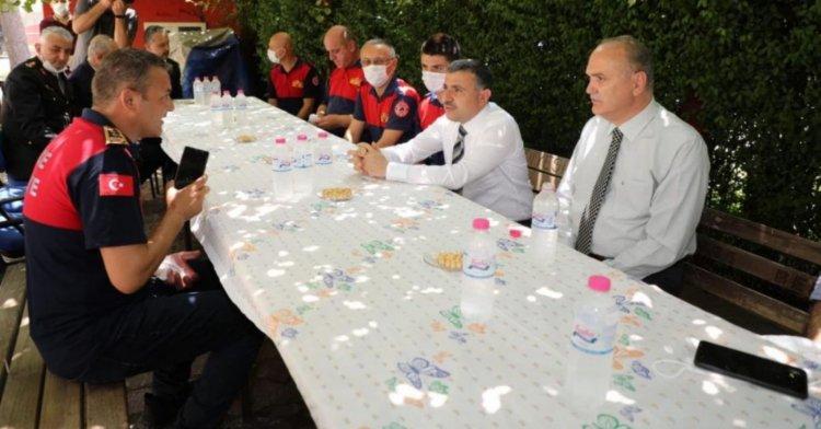 Vali Atay ve Başkan Özlü'den itfaiye ziyareti!