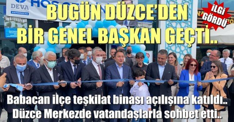Deva Partisi Genel Başkanı Ali Babacan Düzce'deydi